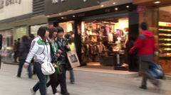 Chinese people shopping in Xidan district in Beijing Stock Footage