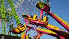 Amusement park ride   - stock footage