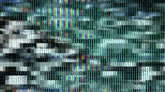 Stereoscopic 3D TV Noise 001 - HD Right Stock Footage