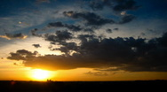 Colorful sunset clouds time lapse Stock Footage