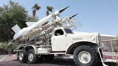 Military Soviet SA3 missile P HD 9348 Stock Footage