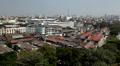 Aerial view of Bangkok from Wat Saket, Golden Mountain,Thailand Footage