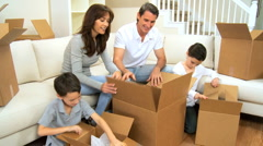 New Home & Beginnings for Young Caucasian Family Stock Footage