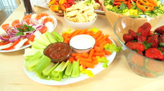 Tasty Healthy Lifestyle Food Stock Footage