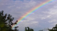 Stock Video Footage of Puerto Rico - Beautiful Rainbow - Clouds - Tree Tops - Beautiful