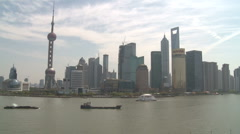 Shanghai Pudong from the Bund Time lapse - stock footage