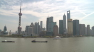Shanghai Pudong from the Bund Time lapse Stock Footage