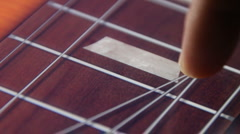 Virtual Electric Guitar on a Tablet Computer Stock Footage