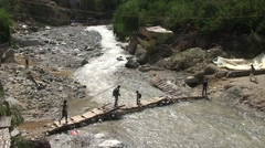 Bridge over Ourika river Stock Footage