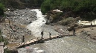 Stock Video Footage of Bridge over Ourika river