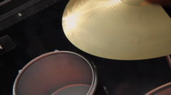 Virtual Drum Set (Ride Cymbal) Stock Footage