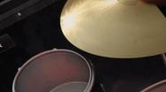 Virtual Drum Set (Ride Cymbal) Stock Footage