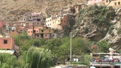 Berber house at Ourika river Stock Footage
