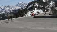 Mountain pass trucking Stock Footage
