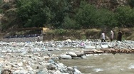 Stock Video Footage of Muslim woman at Ourika river