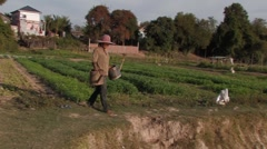 Cambodia: Collecting Water for Irrigation Stock Footage
