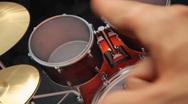 Virtual Drum Set (w/ audio) Stock Footage
