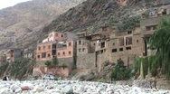 Stock Video Footage of Ourika river and berber houses