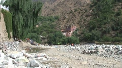 Ourika river Stock Footage