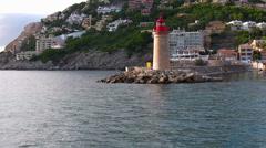 Stock Video Footage of Port heads, Andratx, Majorca, Spain