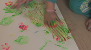 Baby paint 16 Stock Footage