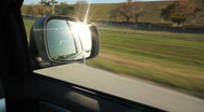 Stock Video Footage of Florida highway. Sunny side mirror.