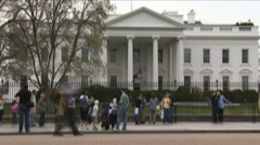 Time-lapse of White House Stock Footage