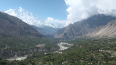 Pakistan, beautiful Hunza Valley, time lapse video, mountain landscape Stock Footage