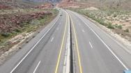 Desert highway traffic above HD 9198 Stock Footage