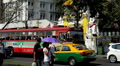 Busy day in Thanon Na Phra Lan in Bangkok, Thailand Footage
