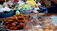 Ready to buy thai food on the streets of Bangkok, Thailand Stock Footage