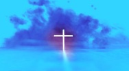 Cross in the Clouds Stock Footage