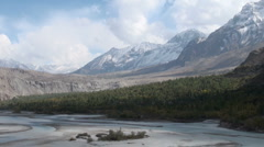 Magnificent scenery, remote region, Northern Pakistan, time lapse, mountains Stock Footage