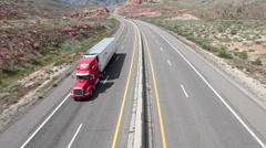 Desert Highway Traffic timelapse nopeasti HD 9198 Arkistovideo