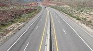 Desert highway traffic timelapse fast HD Stock Footage