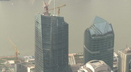 Shanghai Pudong buildings details from World Financial Center Stock Footage