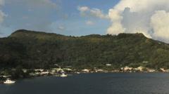 The town of Uturoa in Raiatea - stock footage