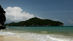 Summertime Tropical White Sand Beach, Paradise Exotic Island, Thailand, Vacation Stock Footage