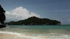 Tropical Paradise Beach in Mu Ko Ang Thong, Exotic Island, Thailand Stock Footage