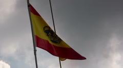 Flag of Spain Stock Footage