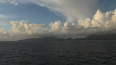 Stock Video Footage of Dramatic clouds over Raiatea