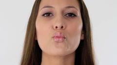 woman flirting - stock footage