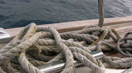 Ropes on deck Stock Footage
