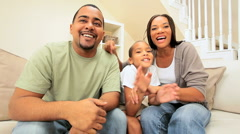 Ethnic Family Using Interactive Technology Stock Footage