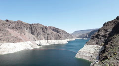 Lake Mead low water P HD 9303 Stock Footage