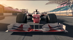 Formula one racecar 002 Stock Footage