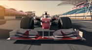 Stock Video Footage of formula one racecar 002