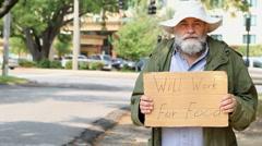 Homeless Man Arkistovideo