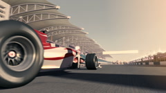 Formula one racecar 004 Stock Footage