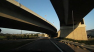 Stock Video Footage of Florida highway. Under an interchange.